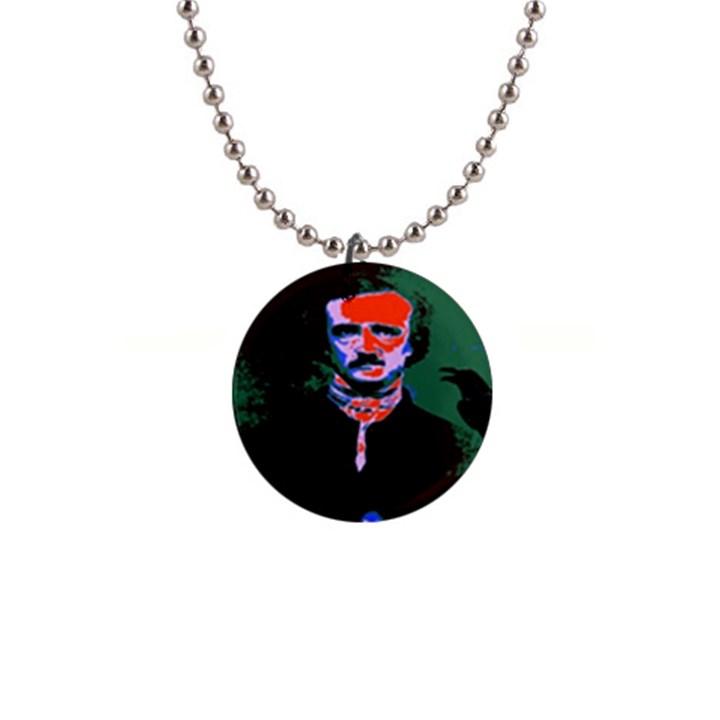 Edgar Allan Poe Pop Art  Button Necklaces