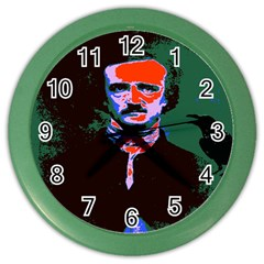 Edgar Allan Poe Pop Art  Color Wall Clocks