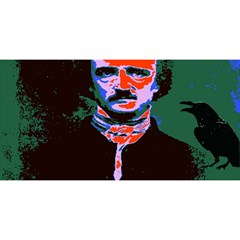 Edgar Allan Poe Pop Art  You Are Invited 3d Greeting Card (8x4)