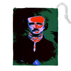 Edgar Allan Poe Pop Art  Drawstring Pouches (XXL)