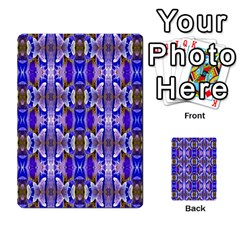 Blue White Abstract Flower Pattern Multi Purpose Cards (rectangle)