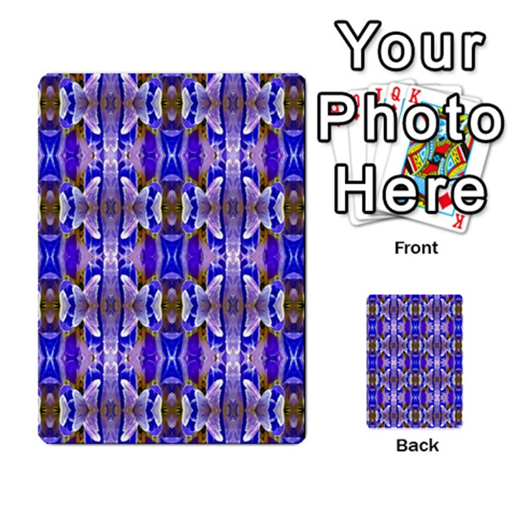 Blue White Abstract Flower Pattern Multi-purpose Cards (Rectangle)