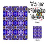 Blue White Abstract Flower Pattern Multi-purpose Cards (Rectangle)  Back 3