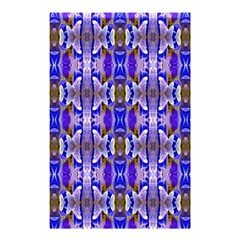 Blue White Abstract Flower Pattern Shower Curtain 48  X 72  (small)