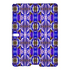 Blue White Abstract Flower Pattern Samsung Galaxy Tab S (10 5 ) Hardshell Case