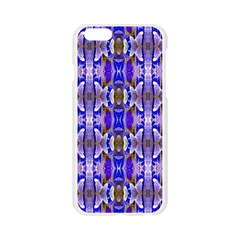 Blue White Abstract Flower Pattern Apple Seamless iPhone 6/6S Case (Transparent)