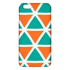 Orange green triangles pattern 			iPhone 6 Plus/6S Plus TPU Case