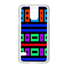 Rectangles And Stripes samsung Galaxy S5 Case (white)