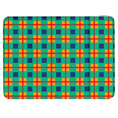 Squares In Retro Colors Pattern 			samsung Galaxy Tab 7  P1000 Flip Case