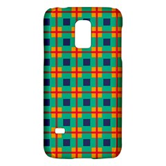 Squares In Retro Colors Pattern samsung Galaxy S5 Mini Hardshell Case