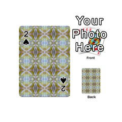 Beautiful White Yellow Rose Pattern Playing Cards 54 (mini)
