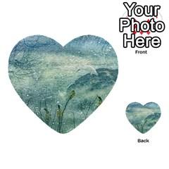 Nature Photo Collage Multi-purpose Cards (Heart)