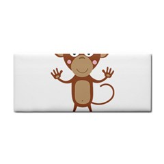 Female Monkey With Flower Hand Towel