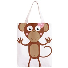 Female monkey with flower Classic Light Tote Bag