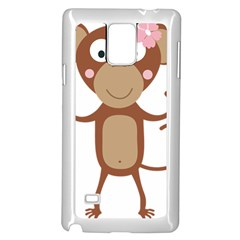 Female Monkey With Flower Samsung Galaxy Note 4 Case (white)