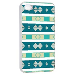 Rhombus And Stripes apple Iphone 4/4s Seamless Case (white)