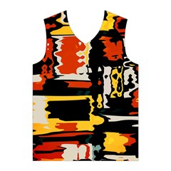 Distorted shapes in retro colors Men s Basketball Tank Top