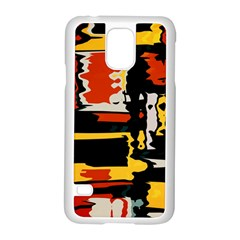 Distorted Shapes In Retro Colors samsung Galaxy S5 Case (white)