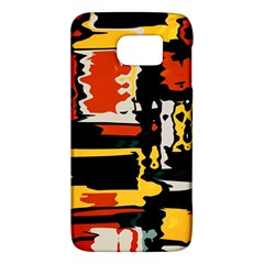 Distorted Shapes In Retro Colors 			samsung Galaxy S6 Hardshell Case