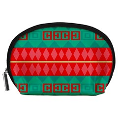 Rhombus Stripes And Other Shapes Accessory Pouch