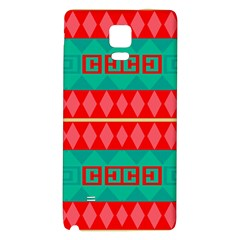 Rhombus Stripes And Other Shapes samsung Note 4 Hardshell Back Case