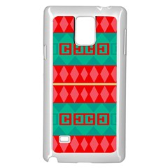 Rhombus Stripes And Other Shapes samsung Galaxy Note 4 Case (white)