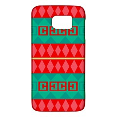 Rhombus Stripes And Other Shapes 			samsung Galaxy S6 Hardshell Case