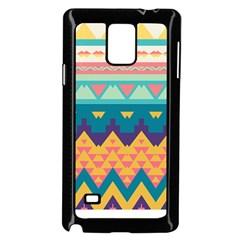 Pastel Tribal Design samsung Galaxy Note 4 Case (black)