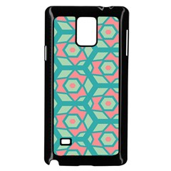 Pink Honeycombs Flowers Pattern  			samsung Galaxy Note 4 Case (black)