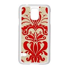 Ruby Red Swirls Samsung Galaxy S5 Case (white)