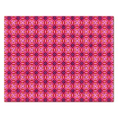 Abstract Pink Floral Tile Pattern Jigsaw Puzzle (rectangle)