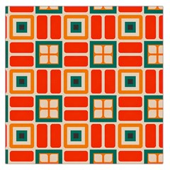 Squares And Rectangles In Retro Colors Satin Scarf