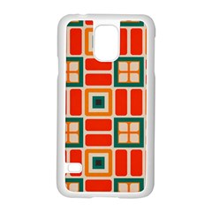Squares And Rectangles In Retro Colors 			samsung Galaxy S5 Case (white)