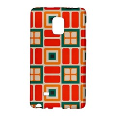 Squares And Rectangles In Retro Colors samsung Galaxy Note Edge Hardshell Case