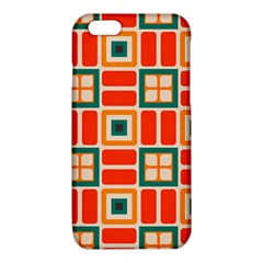 Squares and rectangles in retro colors iPhone 6/6S TPU Case