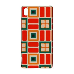 Squares and rectangles in retro colors Sony Xperia Z3+ Hardshell Case