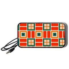 Squares And Rectangles In Retro Colors Portable Speaker