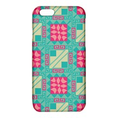 Pink flowers in squares pattern 			iPhone 6/6S TPU Case