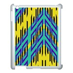 Tribal angles 			Apple iPad 3/4 Case (White) Front