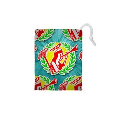 R&h Logo Tessalated Drawstring Pouches (XS)