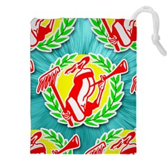 Logo Tessalated Edited 8 Drawstring Pouches (XXL)