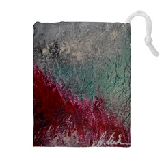 Metallic Abstract 1 Drawstring Pouches (extra Large)