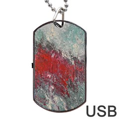 Metallic Abstract 2 Dog Tag Usb Flash (one Side)