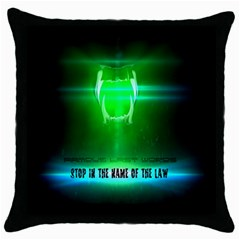 STOP IN THE NAME OF THE LAW Throw Pillow Cases (Black)
