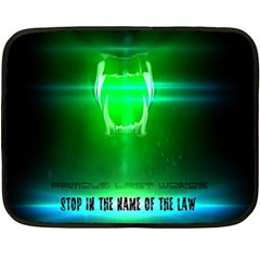 Stop In The Name Of The Law Fleece Blanket (mini)