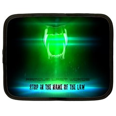 STOP IN THE NAME OF THE LAW Netbook Case (XL)