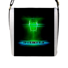 Stop In The Name Of The Law Flap Messenger Bag (l)