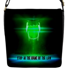 STOP IN THE NAME OF THE LAW Flap Messenger Bag (S)