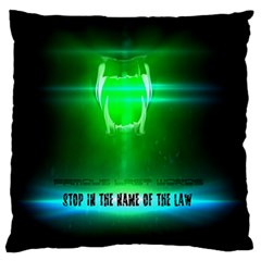 Stop In The Name Of The Law Large Flano Cushion Cases (two Sides)