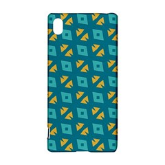 Blue Yellow Shapes Pattern 			sony Xperia Z3+ Hardshell Case